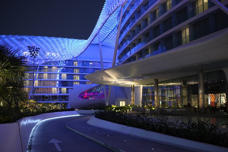 Racetrack and the Yas Hotel