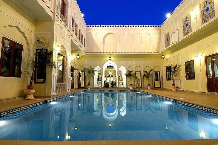 The Raj Palace pool