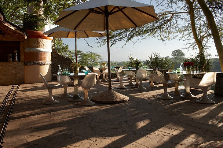 Hatari Lodge terrace