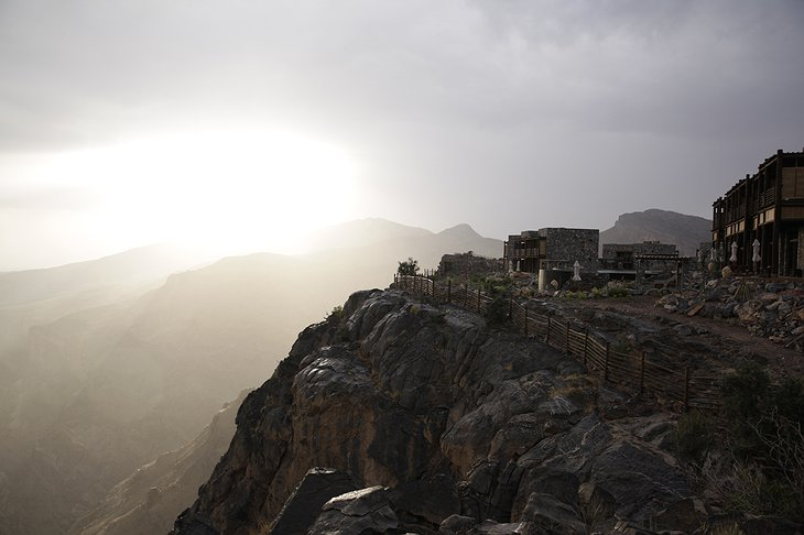Alila Jabal Akhdar on the Al Hajar mountains