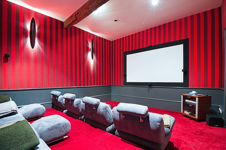 Chateau St Philippe movie room