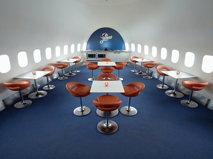 Boeing 747 hostel interior