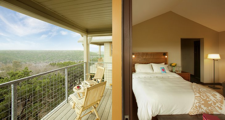 Room with view to Balcones Canyonlands from the balcony