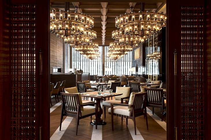 The Chedi Andermatt main dining hall