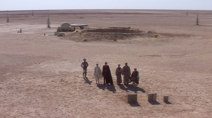 Tunisian Desert in Star Wars Episode IV: A New Hope