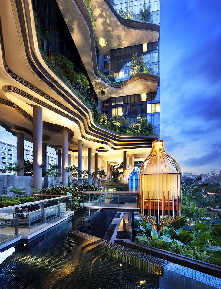 Parkroyal on Pickering wellness floor with pool and the sky garden