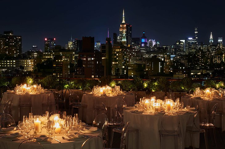 PUBLIC Hotel New York Rooftop Terrace Dining