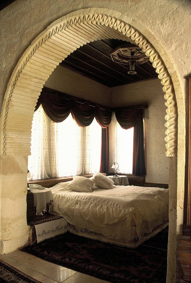 Traditional Turkish ornaments in the Gamirasu Cave Hotel room