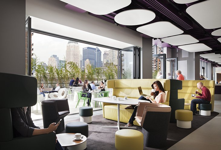 Yotel restaurant and bar in New York