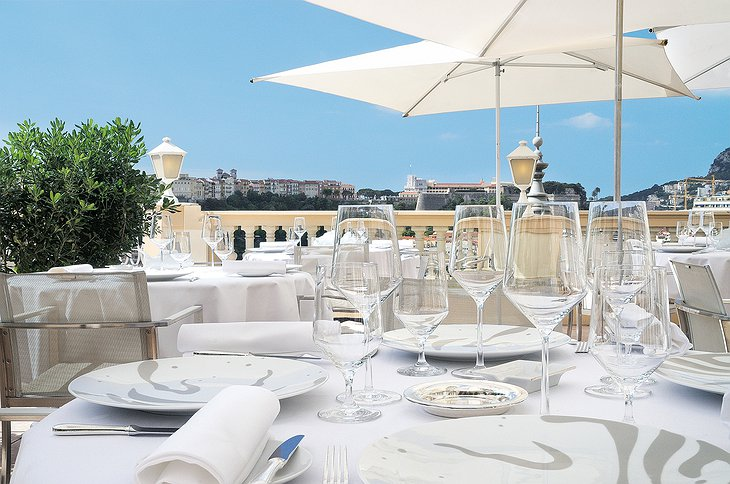 Hotel Hermitage Monte-Carlo dining terrace