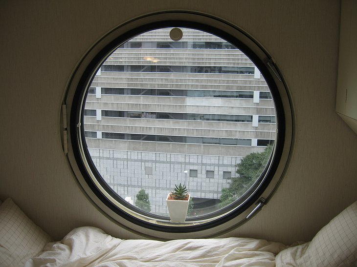 Nakagin Capsule Tower window