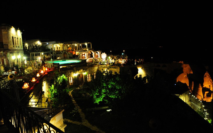 Museum Hotel Cappadocia at night