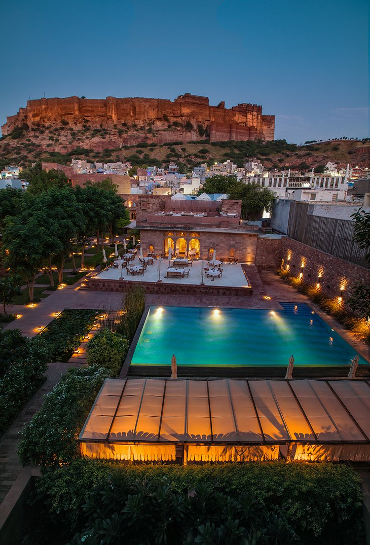 RAAS Jodhpur Hotel From Above