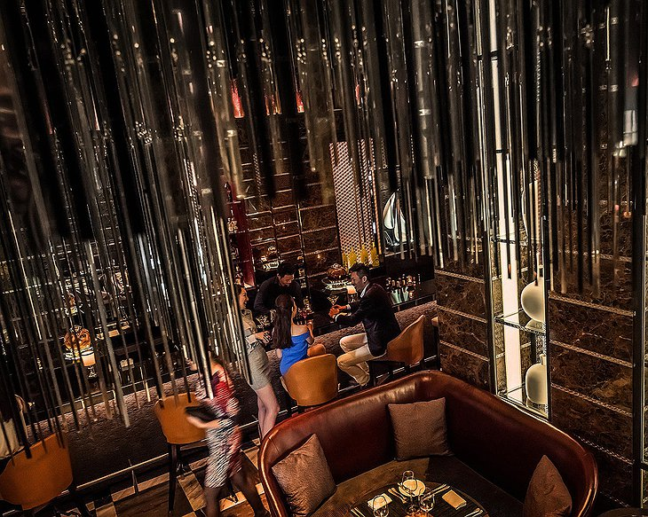 Four Seasons Hotel Pudong bar top view