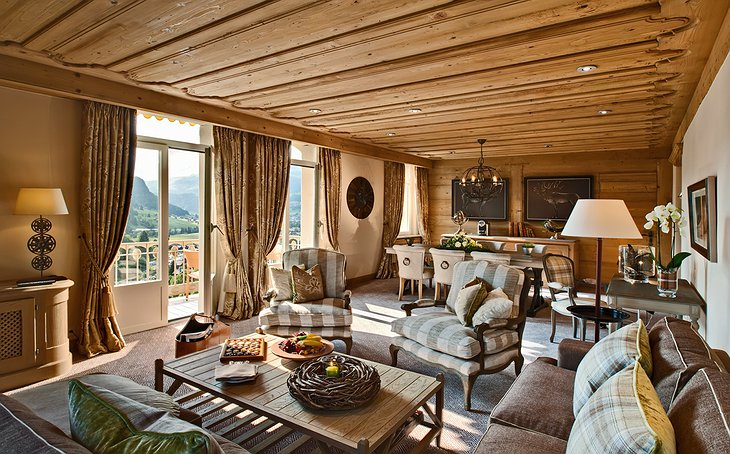 Gstaad Palace new deluxe suite living room