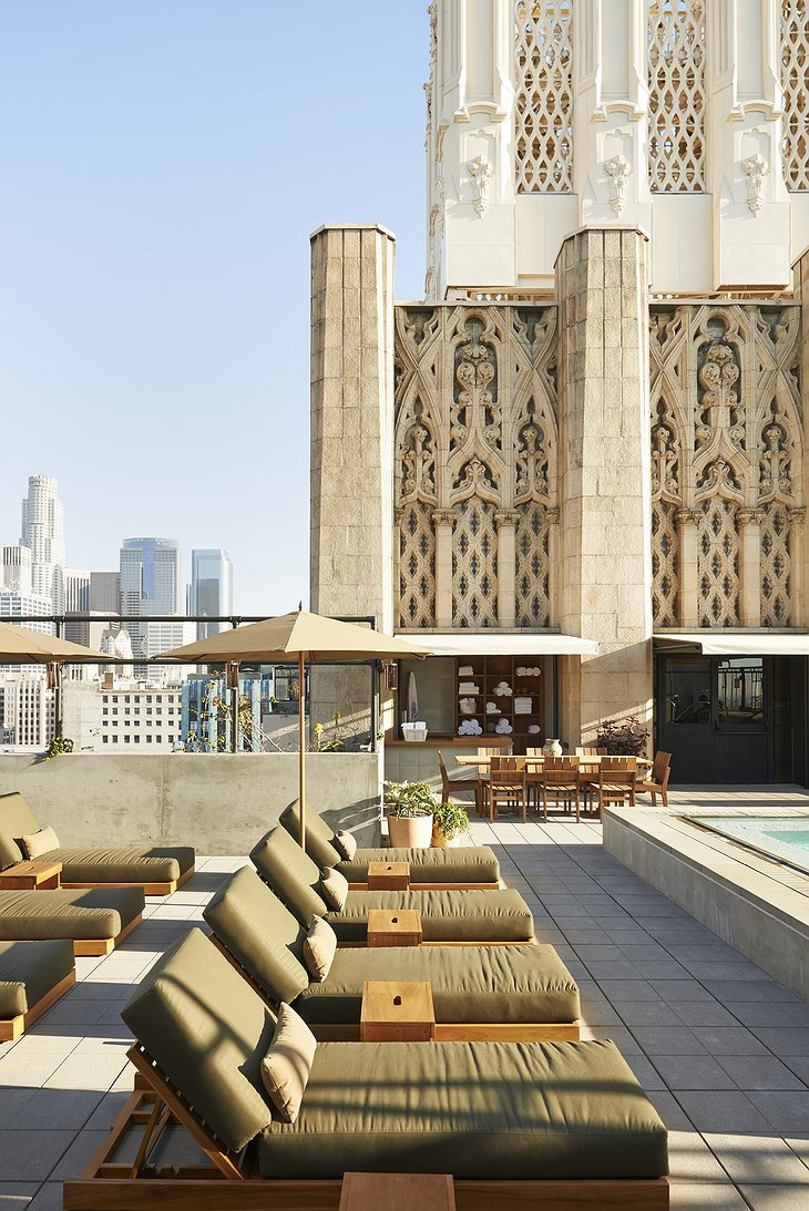 Ace Hotel Downtown Los Angeles rooftop pool