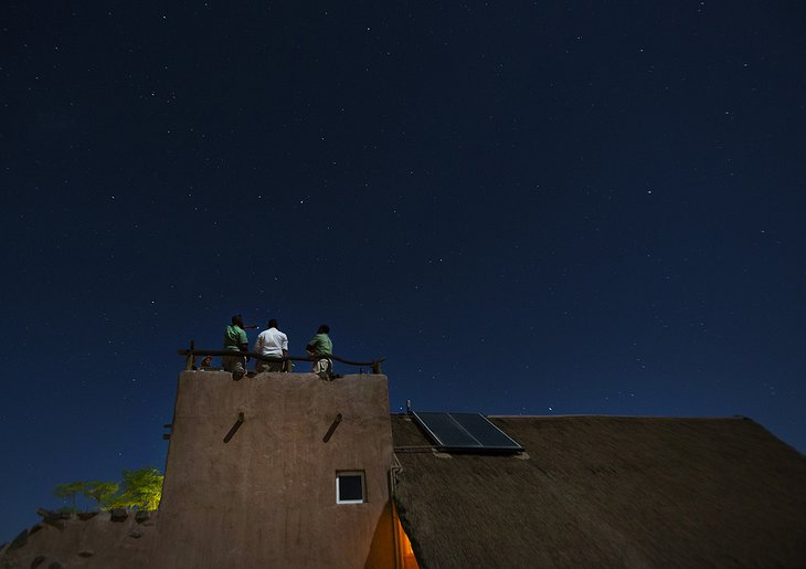 Star hunting on the top of the Kulala Desert Lodge