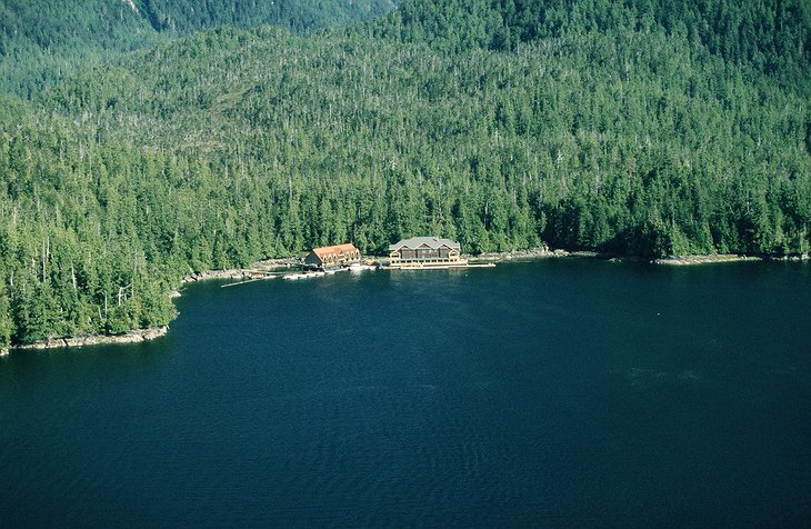 Princess Royal Island, the home of King Pacific Lodge floating hotel