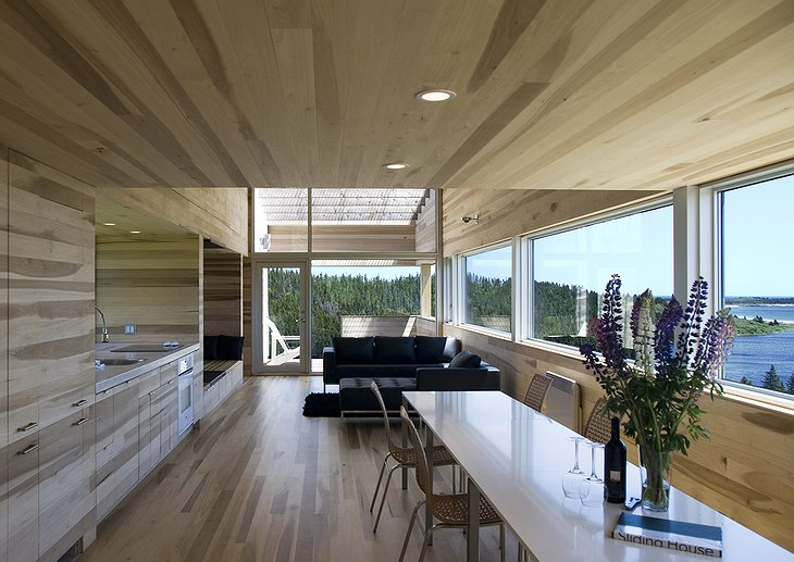 Sliding House living room