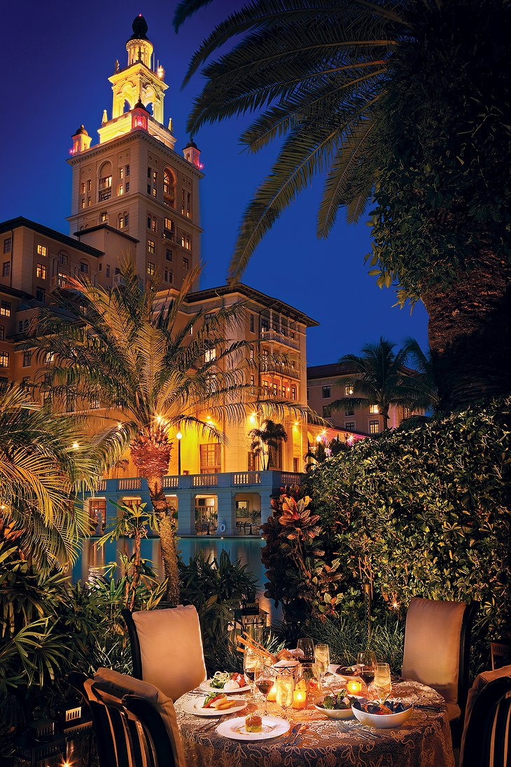 Biltmore Hotel Private Dining in Cabana