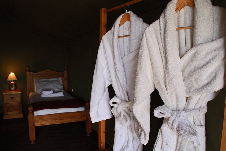 Robes and bed