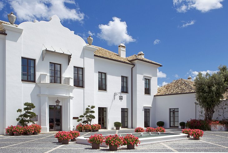 Finca Cortesin Hotel building with main entrance