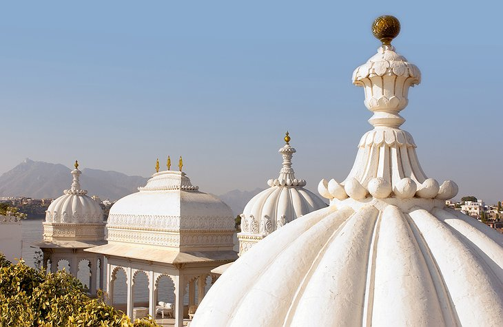 Top ornaments of Lake Palace Hotel