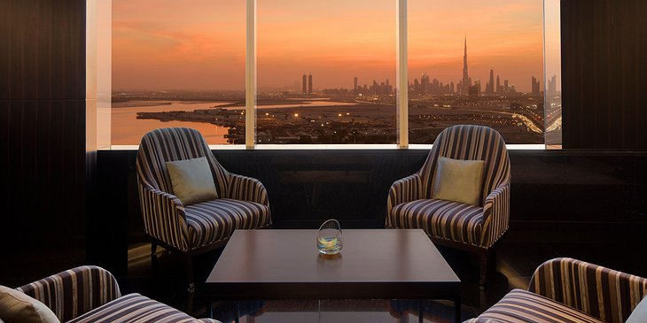 InterContinental Dubai Festival City bar Burj Khalifa panorama
