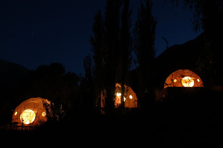 Elqui Domos tents at night