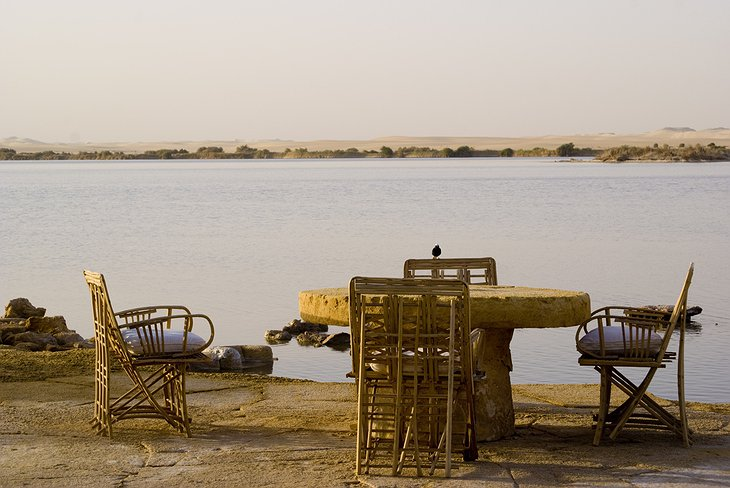 Adrere Amellal chairs at the Siwa Lake