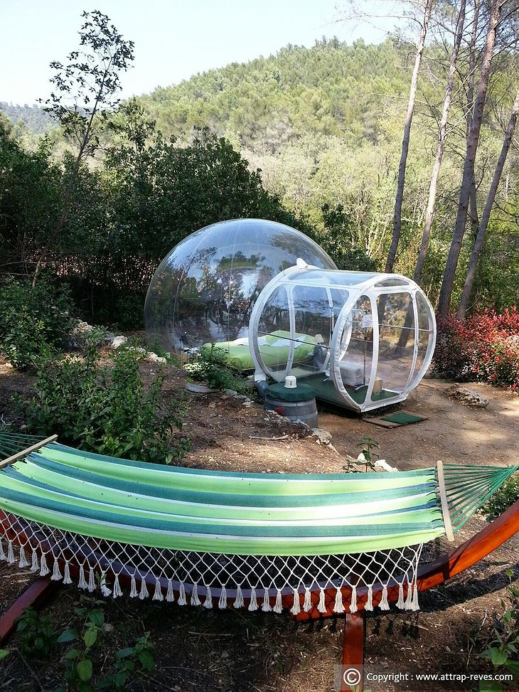 Transparent bubble hotel