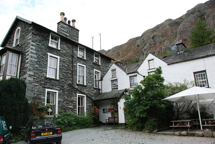 Old Dungeon Ghyll hotel exterior