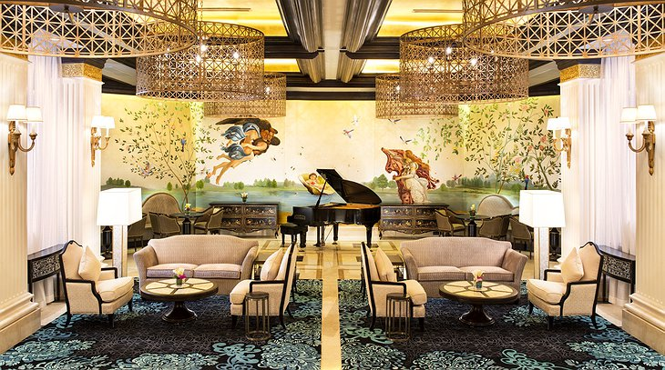 The Castle Hotel lounge with piano