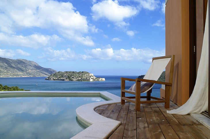 Domes of Elounda private pool with sea views