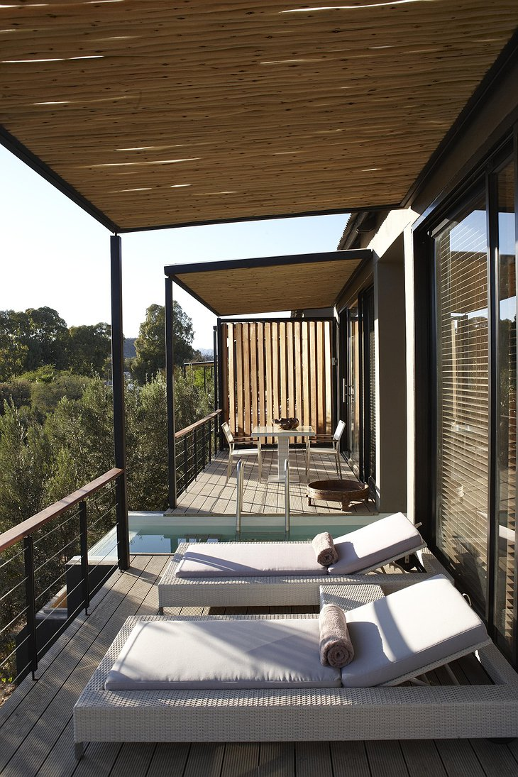 The Olive Exclusive terrace with plunge pool