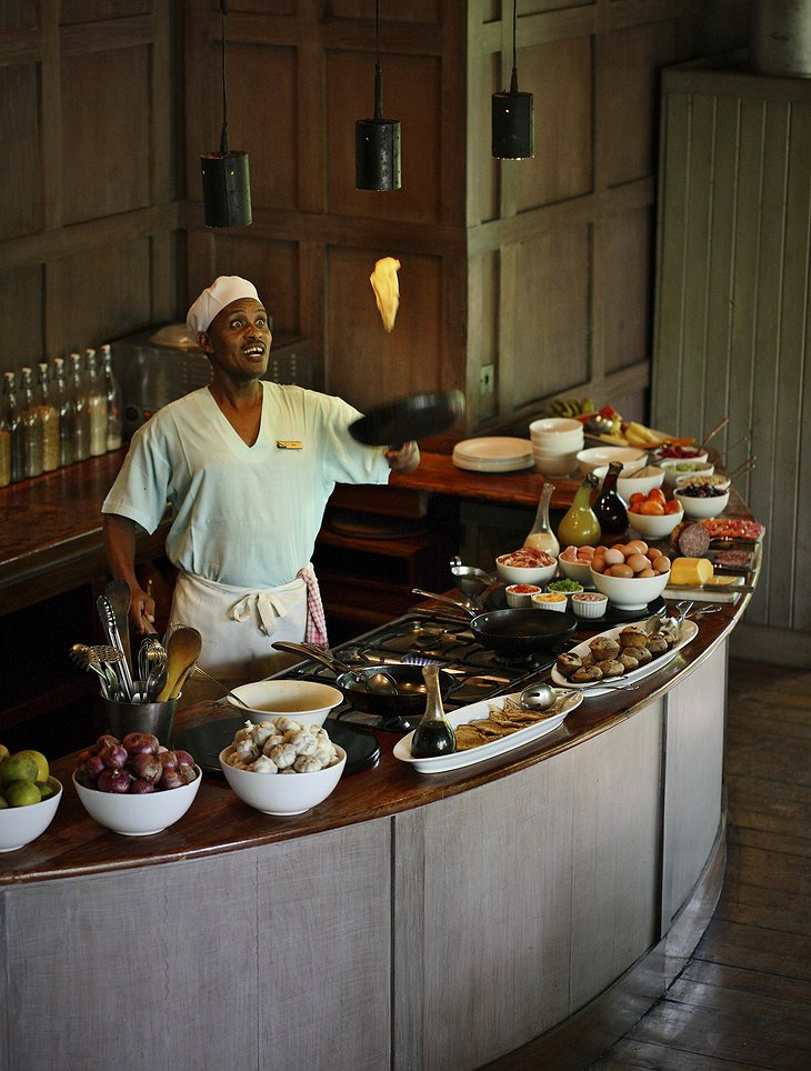 Interactive Kitchen at &Beyond Lake Manyara Tree Lodge
