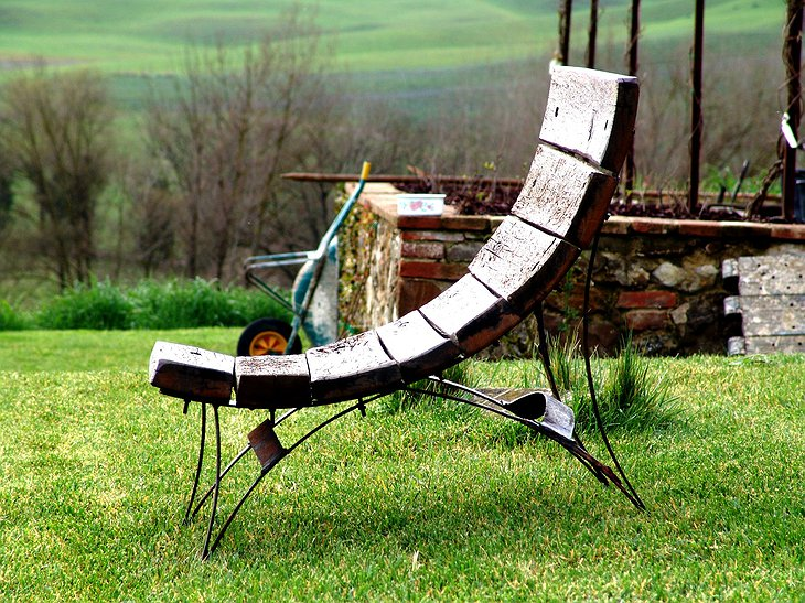 Follonico outdoor wooden chair