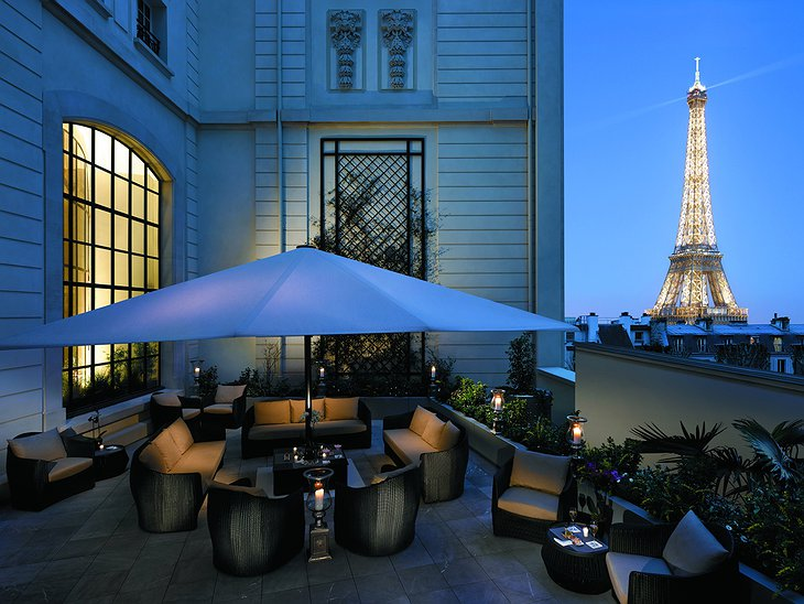 Shangri-La Hotel Paris terrace