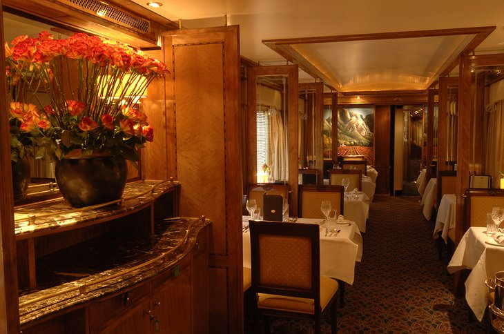 The Blue Train dining room
