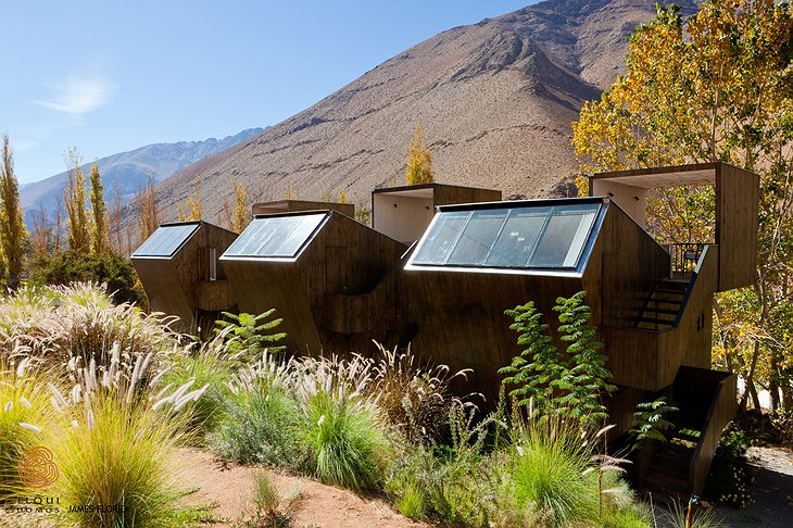 Wooden design houses of Elqui Domos