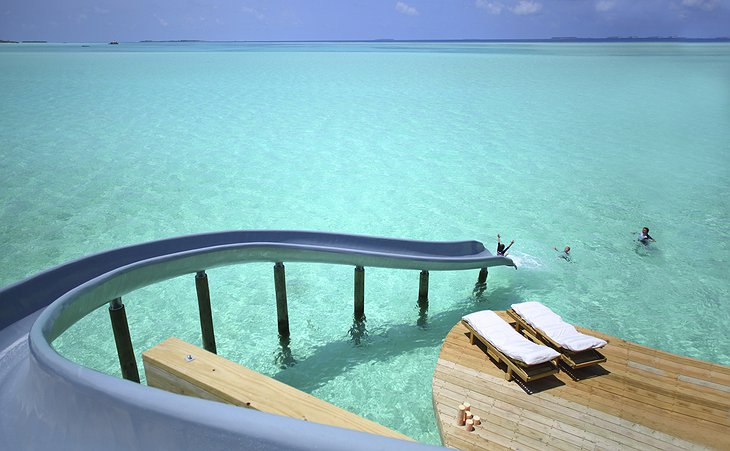 Soneva Jani Maldives water slide to the ocean