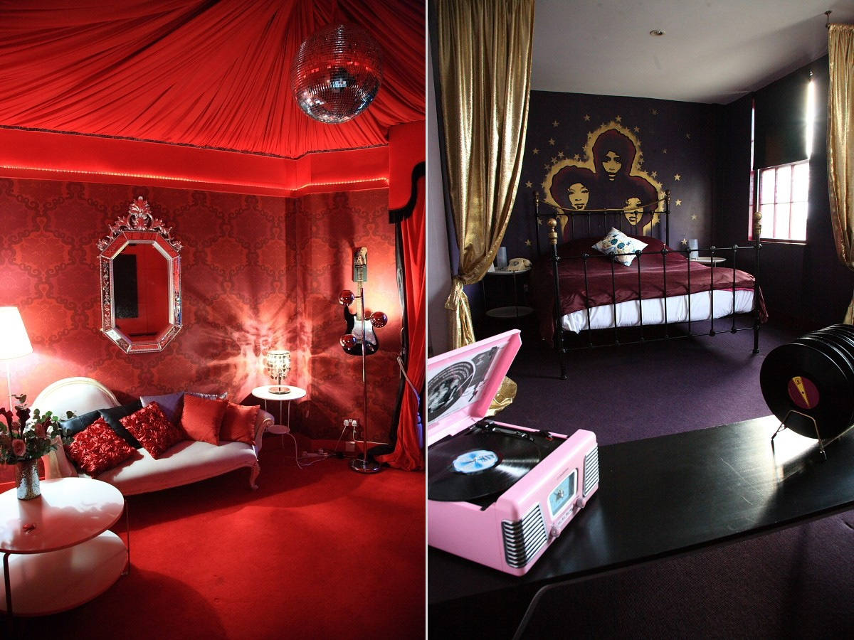 Hotel pelirocco the rock n roll hotel for Supreme themed bedroom