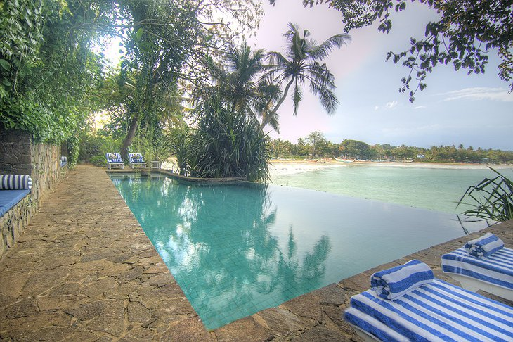 Taprobane Island pool with sea views