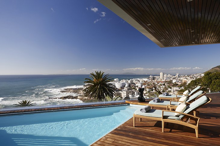 Ellerman House private pool with sea panorama