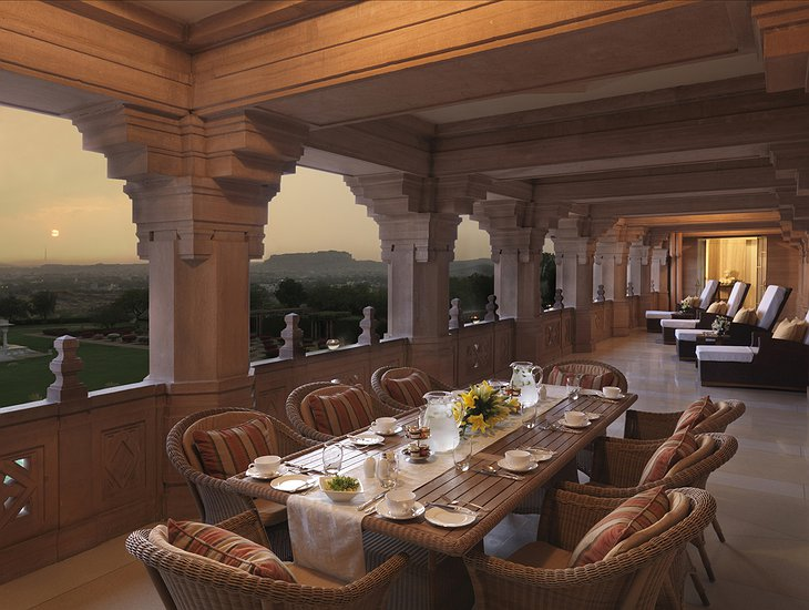 Umaid Bhawan Palace rooftop terrace dining