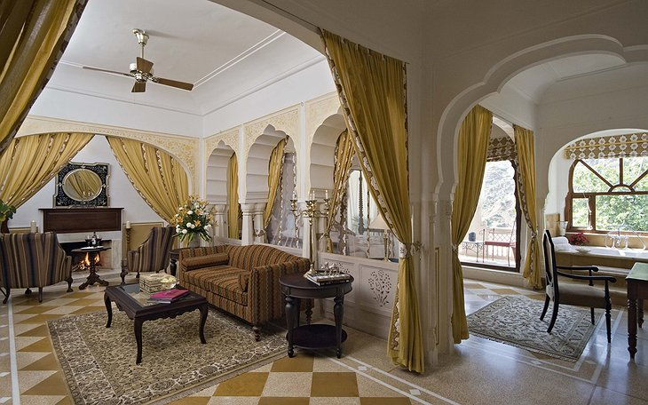 Samode Palace royal suite living room