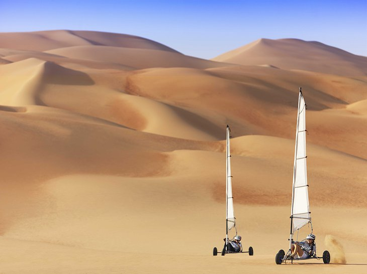Desert land sailing