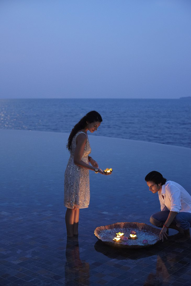Couple making offering