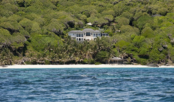 Mustique Island white beach villa