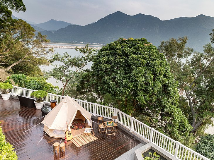 Tai O Heritage Hotel Terrace with Sea View
